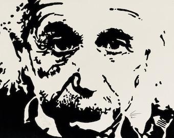 Original Pen & ink drawing of Einstein