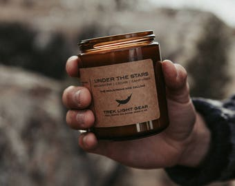 Under the Stars Candle -  Camping Candle, Hiking, Campfire, Outdoors