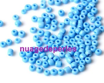 12 grams seed beads 4mm turquoise
