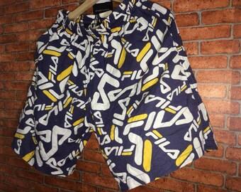 Vintage Fila Short Pants Speel Out 90s Size M