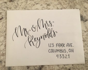 Handwritten addresses for envelopes