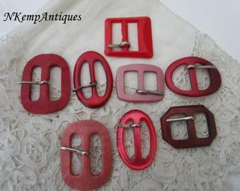 Vintage buckle x 8