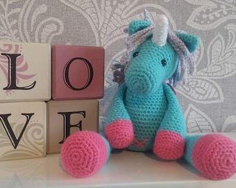 Blue the Unicorn crochet pattern
