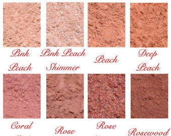Studio Mineral Natural Blush Makeup Pure Pigments Matte Shimmer Sparkle Mica Made in the USA