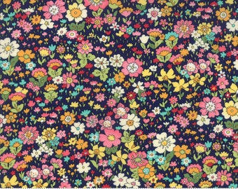 Kenwood in Navy - Regent Street Lawns 2018 - Cotton Lawn Fabric - Moda Fabrics - Floral - 33325 16 - Tiny Floral