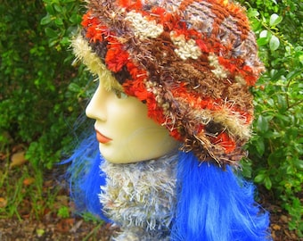CUSTOM ORDER Russet Brown Winter Ski Cloche Hat