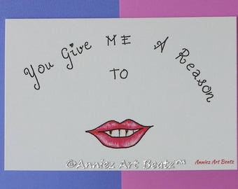 Anniversary/valentine's day/love cards/everyday occasion cards/hand drawn cards