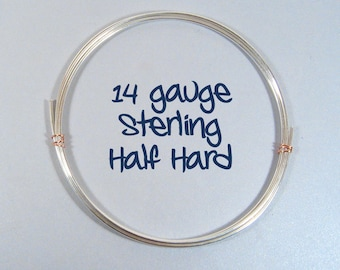 Sterling Silver Wire - 14ga HH - Choose Your Length
