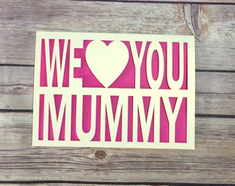 Mother's Day Card, Mummy Card, Mommy Card, Mummy Birthday, Gift for Mummy, Mom Card, Happy Mothers Day, Mum Card, Mum Birthday