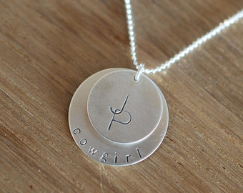 Overlapping initial layered necklace