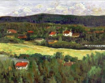 Norge - small landscape canvas