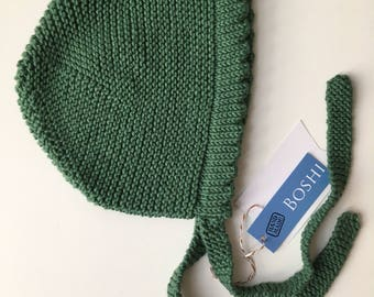 Cotton and Merino Wool baby bonnet Hat