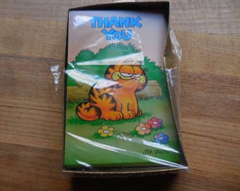 Gibson art company etsy vintage 1970s garfield company gibson greeting cards inc jim davis thank you cards m4hsunfo Choice Image