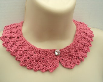 Peter pan crochet etsy crochet pattern peter pan tulip stich collar dt1010fo