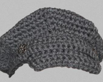 Crochet Newsie Hat