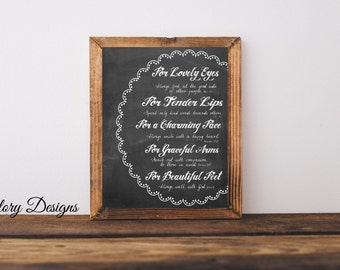 Bible Verse, Scripture Art, gift for a woman, Mother's Day, diy, Chalkboard, Women's printable, bathroom printable, INSTANT DOWNLOAD
