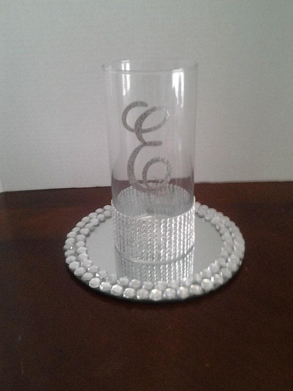 Wedding centerpiece glass candle holder Wedding decorations