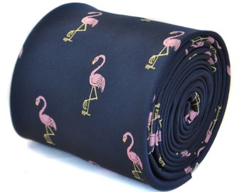 Marina lazo con flamingo diseño bordado con diseño floral de la firma hacia atrás por Frederick Thomas FT1706