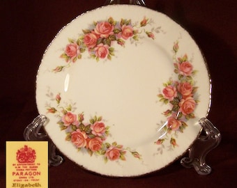 Paragon ELIZABETH ROSE  Bone China Bread Plate - Made in England