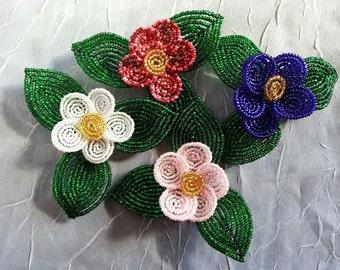 Bead Flower Daisy Pin