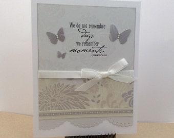 Wedding Card / Folded Notecard / Handstamped