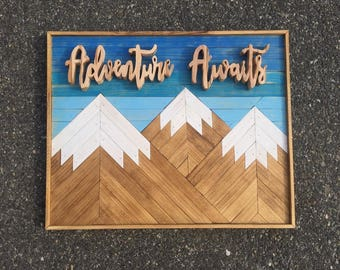 Adventure Awaits--Rocky Mountain Wall Art by @SlowCarFastHome