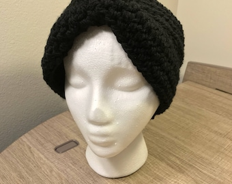 Black Earwarmer / Headband with Twist