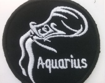 Aquarius Zodiac Patch