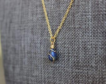 Lapis Lazuli Gold Necklace