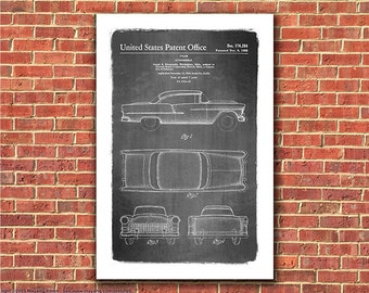 1955 Chevy Bel-Air Automobile Patent Art Print