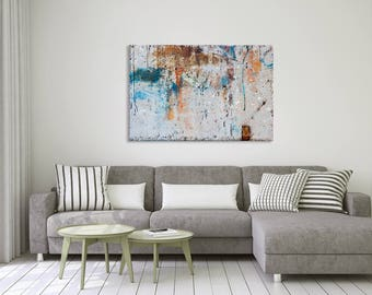 Gray abstract photography print gallery wrap on canvas - Home decor
