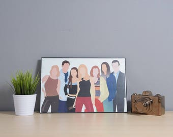 Buffy The Vampire Slayer | Digital Art | 17x11 Poster | btvs | Buffy The Vampire Slayer Print | Buffy | Buffy Poster | TV Show Art | tv art