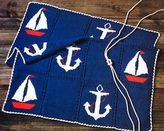Crochet pattern Nautical Afghan
