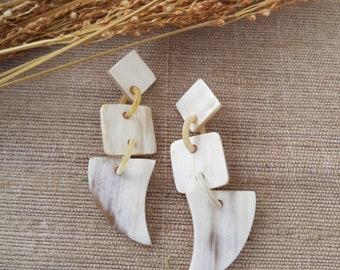 Light Horn Earrings