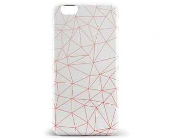 1382 // Geometric Triangle Red Orange Phone Case iPhone 5/5S, 6/6S, 6+/6S+ Samsung Galaxy S5, S6, S6 Edge Plus, S7