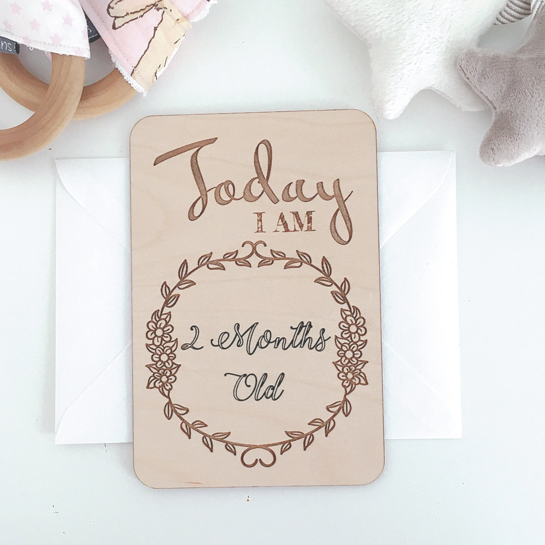 baby milestone cards wooden milestone cards newborn cards