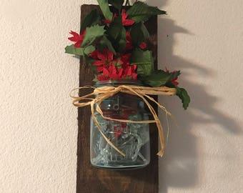 Vintage Mason Jar Wall Decor