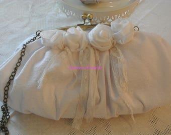 shabby white purse
