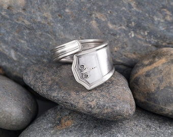 Silverware Handle Ring (Spoon Ring) Size 6 3/4 SR173