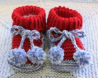 Red/Blue Baby Booties