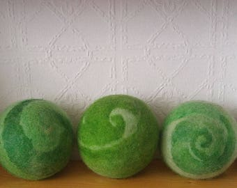 Wool Dryer Balls multi coloured - Set of Three dryerballs