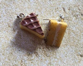 Slice of Pie Earrings, Girls Jewelry, Childrens Jewelry, Gift For Girls, Earrings