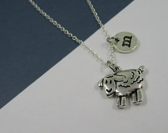 Sheep necklace, Animal necklace, sheep jewelry, personalized necklace, sheep gift, animal lover, collier argent pendentif mouton brebis