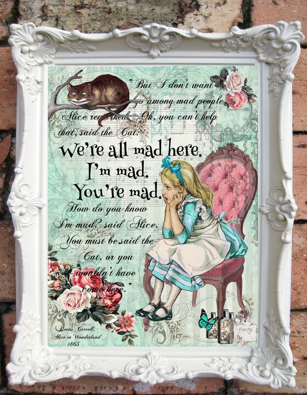 Alice In Wonderland Decor Alice In Wonderland Quote Art Print