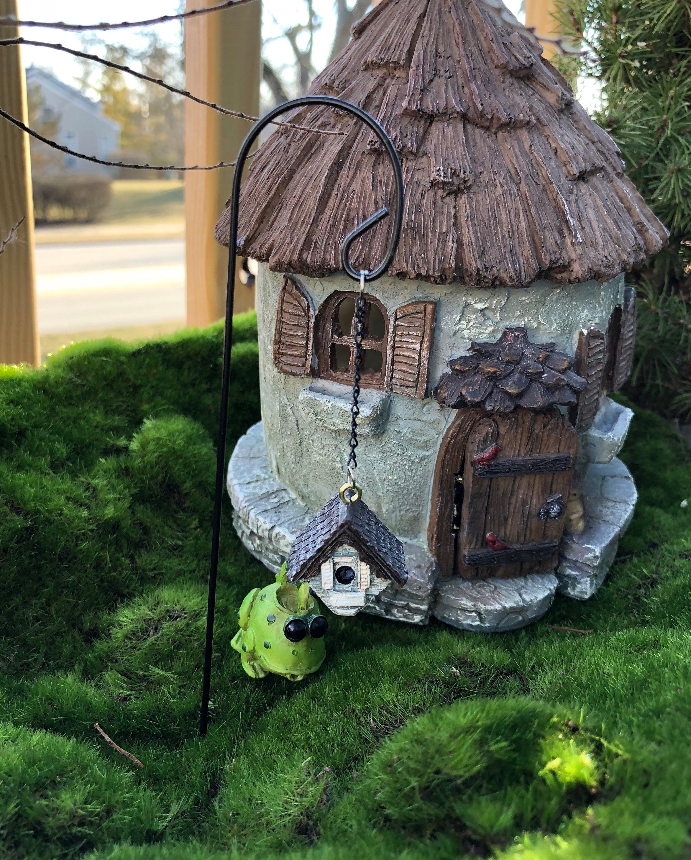 SALE Mini Birdhouse With Shepherds Hook, Hanging Birdhouse and Hook ...