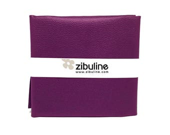 Coupon of faux leather cord - 45 x 50 cm - plum color