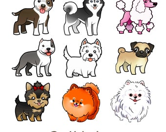 Puppy Love, 2 Edible Transfer Sheets for Making Edible Dog Toppers, Cupcake Toppers, Chocolate Party Favors, Lollipops, Dog Lover Birthday