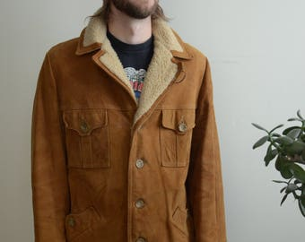 70s Mcgregor Suede Sherpa Lined Men's Jacket SZ 44