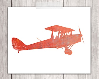 Nursery Plane - 8x10 Boy Nursery, Airplane Nursery Art, Planes, Nursery Decor, Airplane Prints, Printable Nursery