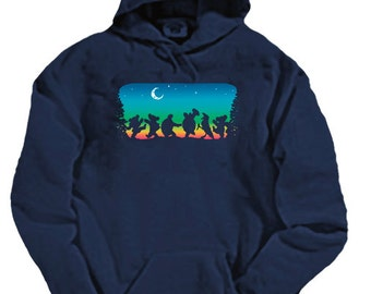 Grateful Dead Moondance Hoodie / sweatshirt /Dead and Company/ Dancing Bears/ Terrapin Turtles